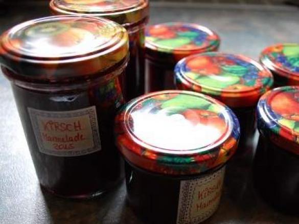 kirsch ingwer marmelade auch f r diabetiker geeignet von cawe ein thermomix rezept aus der. Black Bedroom Furniture Sets. Home Design Ideas