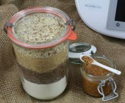 Brownie-Mix (Backmischung) mit salziger Karamellsauce