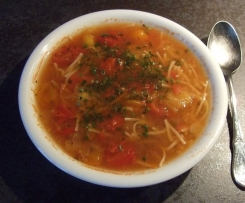 Klare Tomatensuppe
