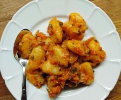Zucchini-Paprika-Gnocchi Salat