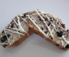Oreo-Biscotti mit weißer Schokolade (Cantuccini)