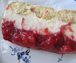 Weiße Schoko-Lasagne mit Erdbeeren