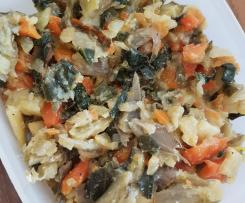 Mangold Gemüse mit Karotten und Pastinaken