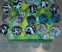 Variation Vanille Cake Pops mit Schokotropfen - aus dem Cakepop Maker mit Joghurt und normalem Mehl