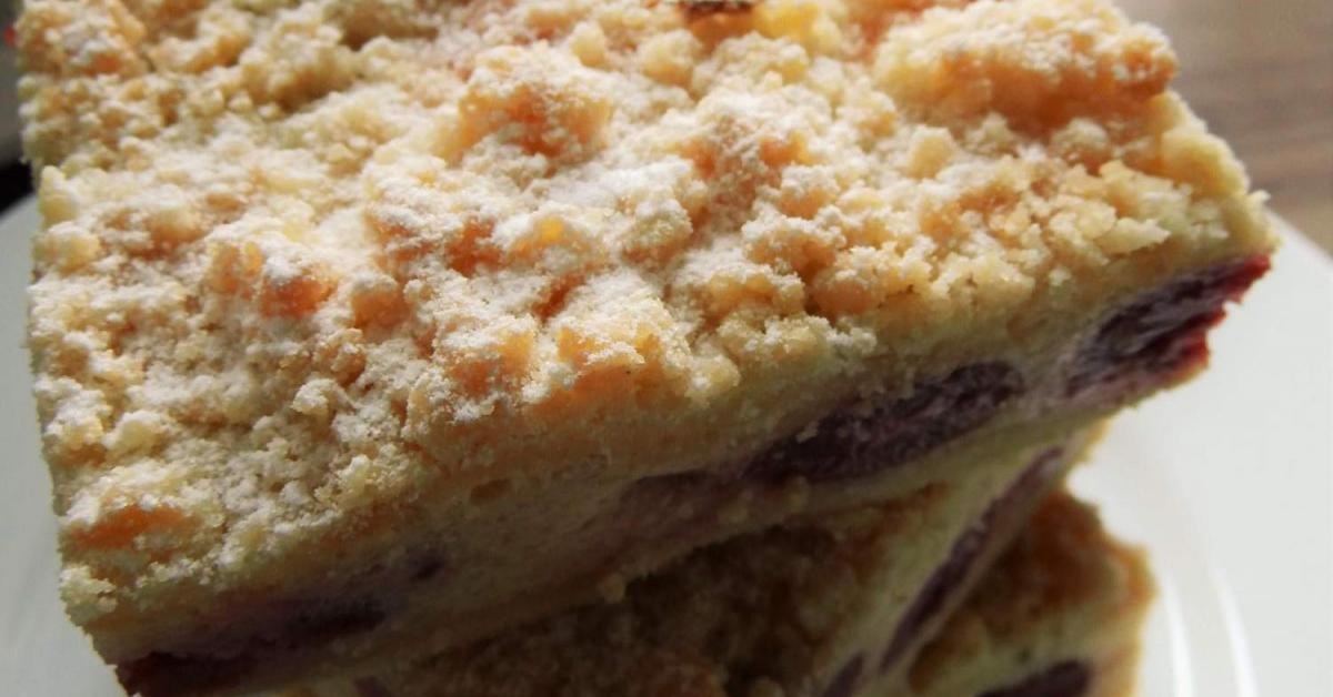 Streuselkuchen Mit Quark Kirsch Fullung Von Tasja81 Ein Thermomix