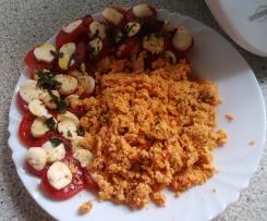 Tomaten-Rührei mit Mozarella (Logi-Methode)