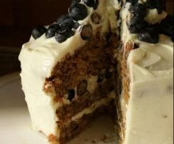 Mohren Walnuss Kuchen Mit Blaubeeren Von Tatjana 1993 Ein Thermomix