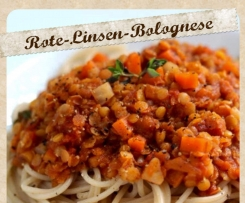 Rote-Linsen-Bolognese VEGAN