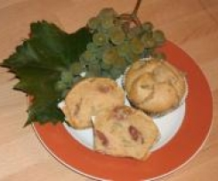 Trauben-Marzipan-Muffins