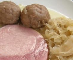 Kasseler mit Sauerkraut und Gwichste - All-in-One