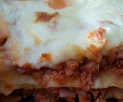 Vegetarische Lasagne mit Soja
