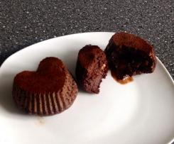 Low Carb Schokoladeküchlein mit flüssigem Kern