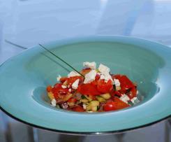 Lauwarmer  Zucchini-Paprika-Salat