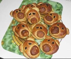 Variation von Glücksschweine (vegan)