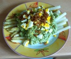Spargel mit Brokkoli-Sauce in Anlehnung an Biolek/Witzigmann