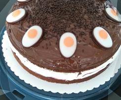 Schoko -Johannisbeer-Torte Osterstyle