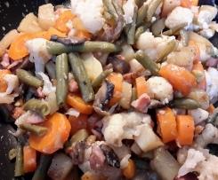 Gemüsepfanne mit Kassler - kalorienarm LF30