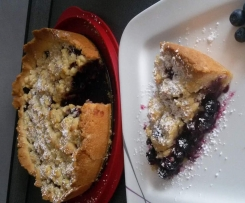 Blaubeer / Heidelbeer Marzipan Streuselkuchen