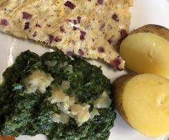 Spinat mit Eiern und Kartoffeln