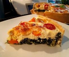 Spinat-Feta-Tomaten-Quiche