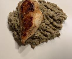 Hähnchenbrust auf Wirsing-Champignon-Gemüse