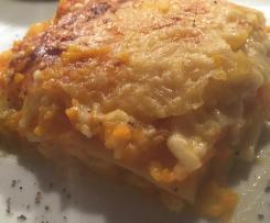 Kürbis-Karotten-Lasagne