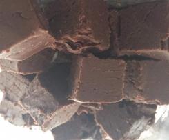 Variation von BethyN's Vanilla fudge mit Zartbitter und Lavendel