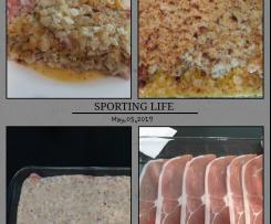 Überbackene Schnitzel mit Zwiebel-Senf-Kruste