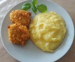 Puten-Nuggets mit Kartoffelpüree