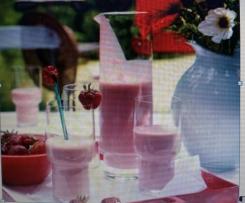 Variation von Erdbeer-Joghurt Drink