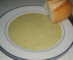 Variation Zucchinicremesuppe