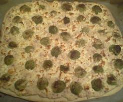 Rosenkohl - Feta - Flammkuchen