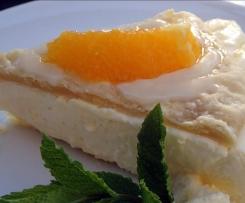 Orangen-Quarktorte mit Blätterteig