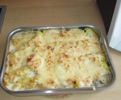 Kartoffel-Gemüse-Auflauf mit Käsesauce