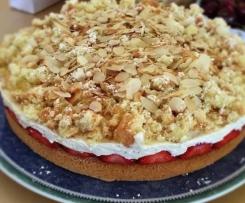 Erdbeerflocken Torte