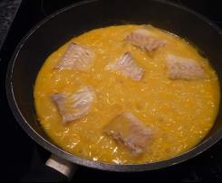 Pastinaken Creme Suppe NEU: mit gebratenem Kabeljau (2 Port)