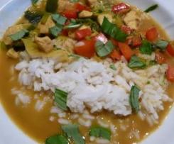 Curry-Hühnchenragout mit Kokosmilch