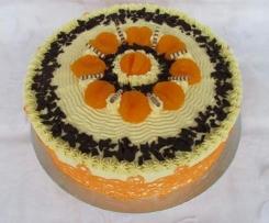 Mandarinen Buttercremetorte
