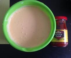 sauce hollandaise mit Sambal oelek
