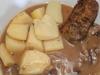 Krautrouladen mit Kartoffel und Soße