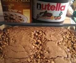 Nutellakuchen mit Knuspermüsli