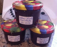 Kirsch-Kokosmilch-Marmelade