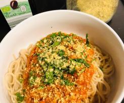 Bolognese vegan mit Sonnenblumenkernen