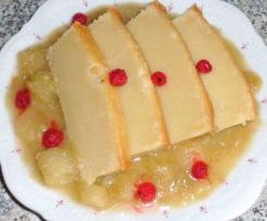 Ingwer-Pudding  gebacken