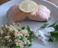 Lachs mit Couscous-Salat