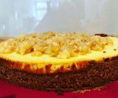 Ricotta-Käsekuchen mit Karamell-Macadamia-Nüssen