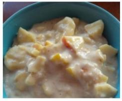 Variation WW Porridge / Haferbrei mit Apfel, Banane und Zimt