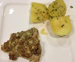 Putenschnitzel mit Gorgonzola