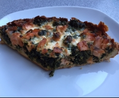 Spinat-Lachs-Kuchen Low Carb