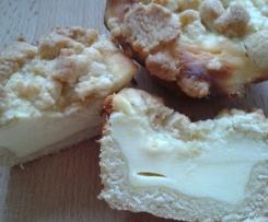 Käsekuchenmuffins mit Streuseln